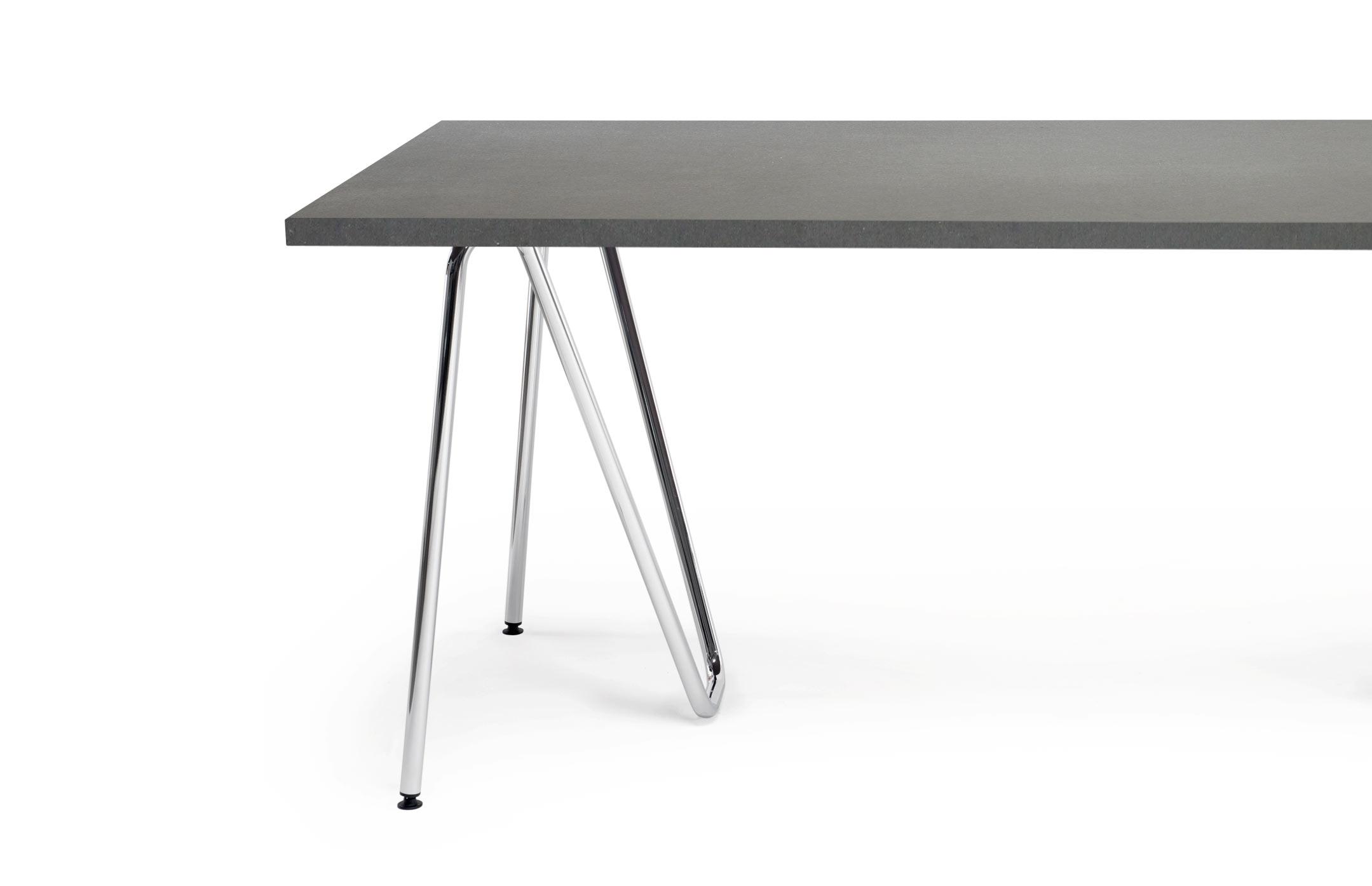 Lz Sinus Tischbock Beton Tischplatte