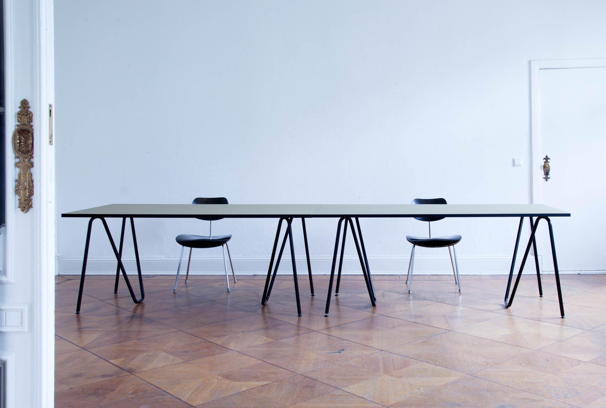 l z sinusid tisch linoleum. Black Bedroom Furniture Sets. Home Design Ideas